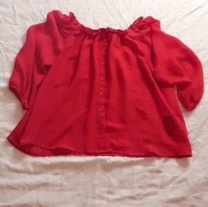 Red h&m top
